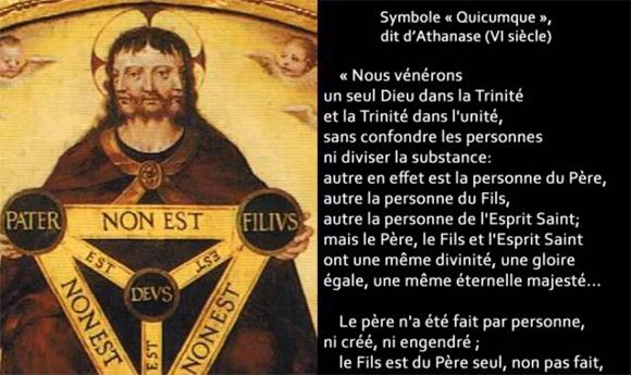 Les textes magistériels sur la Trinité