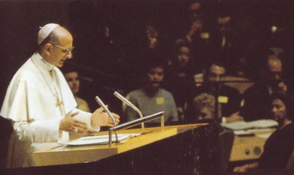 Paul VI à l'ONU en 1965